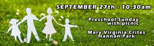 trinity lutheran preschool sunday picnic. september 27th
